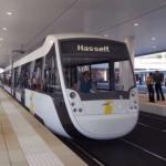 De sneltram naar Hasselt en de Maastricht Brussel Express