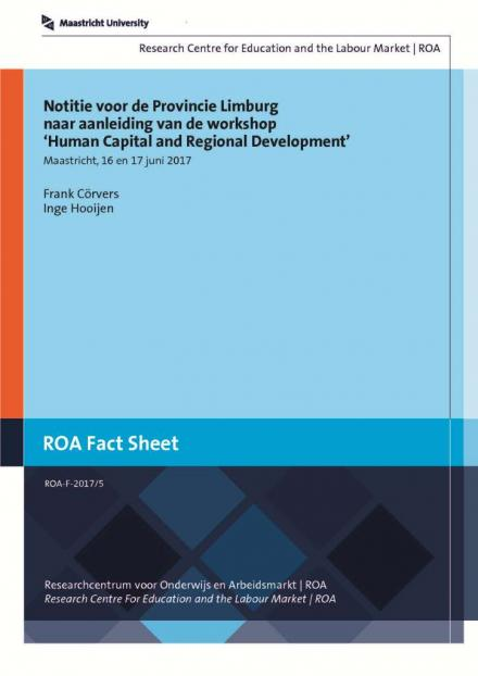 Notitie naar aanleiding van workshop 'Human Capital and Regional Development'