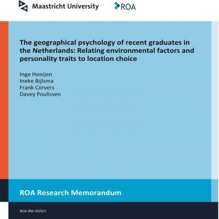 The geographical psychology of recent graduates in the Netherlands