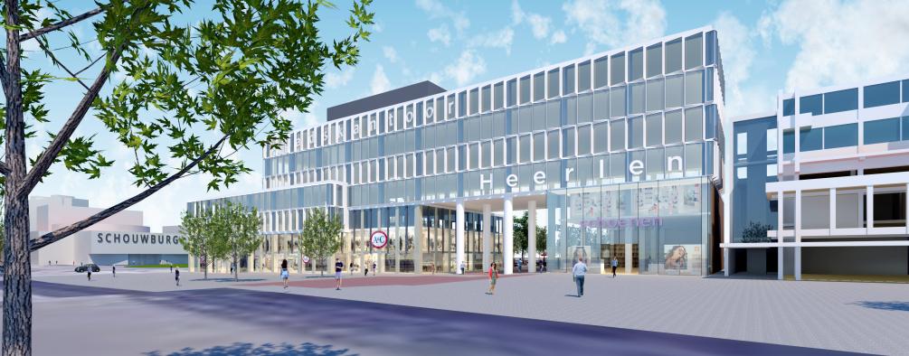 """""""De herontwikkeling van een in onval gevallen winkelcentrum. Hergebruik, duurzaam en groen, het Schinkel Loon't!""""- Vandenbergh / Windmuller Architectuur & Bouw Ontwerp 2015"""